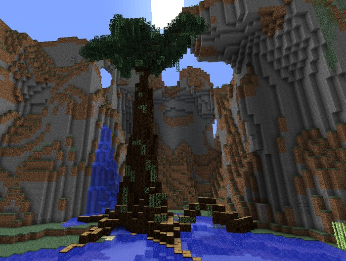 minecraft large tree instructions image